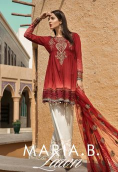 Maria b voyagea luxe luxury lawn women clothing ethnic clothes pakistani indian bengali shalwar kameez gul ahmed embroidered jacquard unstitched 3 piece suit ssm 31 mid summer collection Pakistani Couture, Pakistani Dresses, Pakistani Suits, Punjabi Suits, Indian Attire, Indian Wear, Indian Suits, Casual Dresses, Fashion Dresses