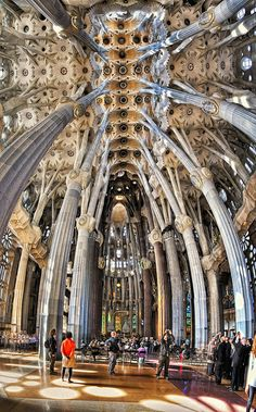 Antonio Gaudi Sagrada Familia Church, Barcelona. I have seen the outside, would love to visit the inside!