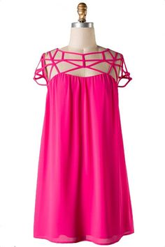 Vestido de Festa Hour com Tiras - Pink Berry