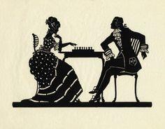 Victorian Silhouette Couple Heads | Silhouette Couple