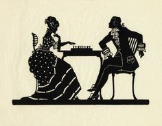 Victorian Silhouette Couple Heads | Silhouette Couple
