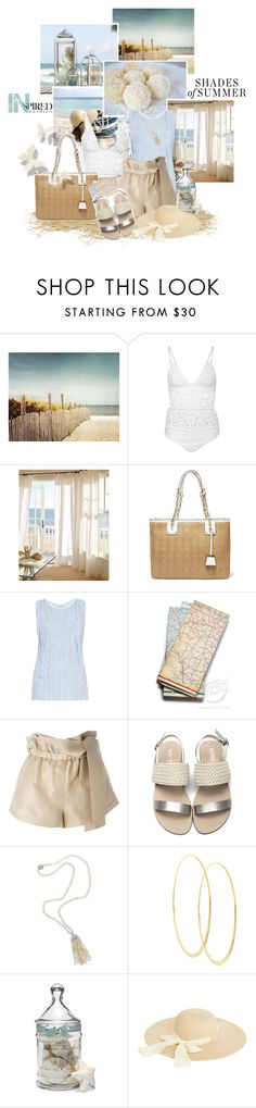 """Beach bag"" by md-louber ❤ liked on Polyvore featuring Zimmermann, Pottery Barn, MICHAEL Michael Kors, Altuzarra, 3.1 Phillip Lim, Fantasia, Lana, Oasis and Summer"