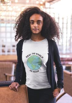 Go vegan and save the planet! This cute vegan shirt is available on etsy. Click the photo to view more vegan products. Vegan Fashion, Ethical Fashion, Beauty Blender Makeup Sponge, Vegan Shirts, Matcha Smoothie, Vegan Products, Vegan Clothing, Ny Fashion Week, Christmas Gifts For Her