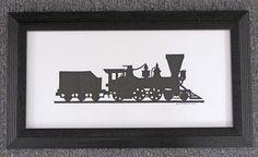 Steam Engine Train  Scherenschnitte  Hand by ArtGalleryRiverRd, $29.00