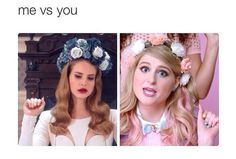 funny, lana del rey, and me vs you image