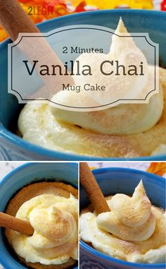 Oh yum! This vanilla chai mug cake recipe with cream cheese frosting looks like the perfect dessert idea when you just need a little something sweet!