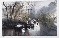 """Artist Alvaro Castagnet """"Rainy Day in Vancouver"""""""