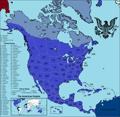 The American Empire [OC] : imaginarymaps Imaginary Maps, Drum Pad, American Freedom, Fantasy Map, Alternate History, Fantasy Setting, Us Map, City Maps, Aries