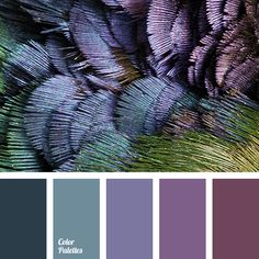 Magic play of colors, flowing from lilac-violet to purple-amethyst tones, is interspersed with emerald and muted swamp greens, found in the plumage of peac