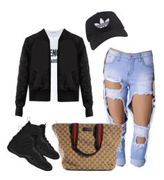 Untitled #44 by tay-liangg on Polyvore featuring polyvore, fashion, style, Givenchy, Gucci, adidas, NIKE and clothing