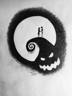Stole this from Jeydon Wale. Nightmare before Christmas inspired drawing.
