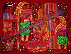 Textile Art, Panama, Islands, Diana, Applique, Textiles, Embroidery, Quilts, Painting