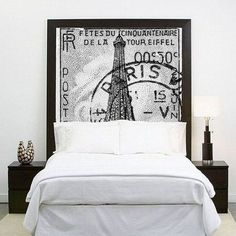 great headboard - wondering where to get the image for a DIY version...