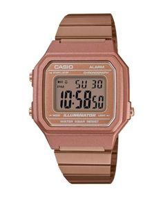 b92b5f03d156 Casio - Vintage Collection Digital Rose Goldtone Stainless Steel Link  Bracelet Watch