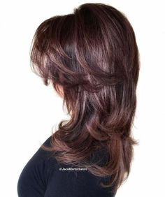 2018 Most Universal Modern Shag Haircut For Teens Most Universal Modern Shag Haircuts 2018 Today actual few women opt to accept their duster cut in one-length styles. Abandoned haircuts attending added modern, aciculate and. hapely, getting at the aforeme Long Curly Hair, Wavy Hair, New Hair, Hair Bangs, Thin Hair, Modern Shag Haircut, Long Shag Haircut, Shag Hairstyles, Straight Hairstyles