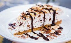 Home & Family - Recipes - Stracciatella Tortoni Cake with Espresso Fudge Sauce | Hallmark Channel