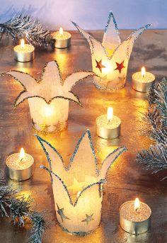 Funkelnde Weihnachts-Windlichter