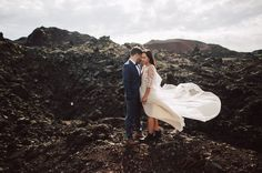 Iceland Elopement ( flowing bohemian wedding dress with boots. <3 <3 )