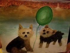 Gizmo and Swiper. Two buddies, two great dogs! Sorely missed. Four Legged, I Love Dogs, Painting, Art, Art Background, Painting Art, Kunst, Paintings, Performing Arts