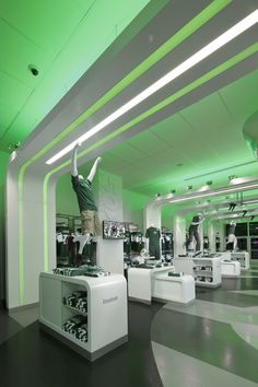 DNA / Ceiling / Wall Outstanding Merit - The Flagship Store Powered by Reebok - Softline Specialty Store sq. Store 3, Kids Store, Exhibition Stand Design, Retail Store Design, Store Interiors, Design Research, Retail Interior, Retail Space, Shop Interior Design