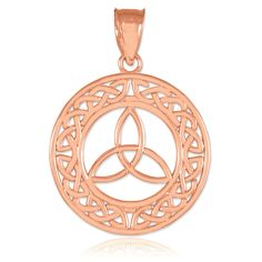 Rose Gold Celtic Trinity Knot Pendant
