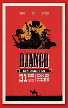 Django Unchained - Poster by Federico Molinari, via Behance