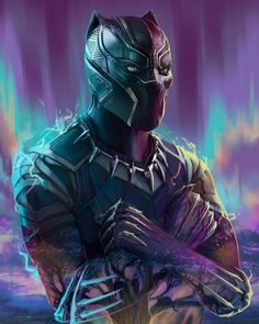 Black Panther colorful background