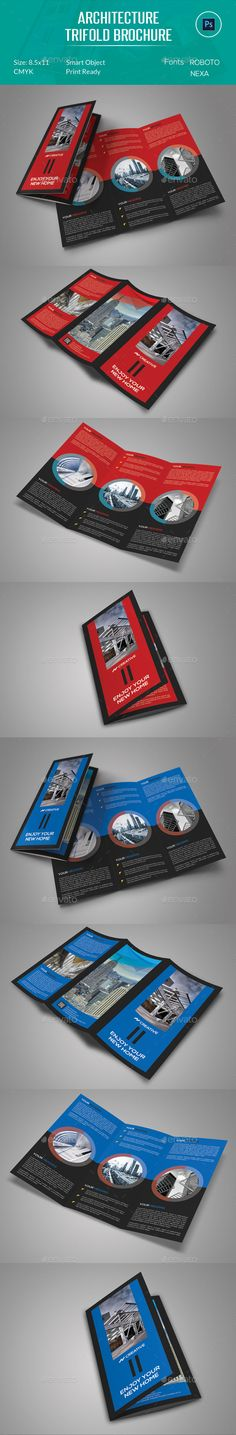Architecture Trifold Brochure Template #design Download: http://graphicriver.net/item/architecture-trifold-brochure/12729734?ref=ksioks