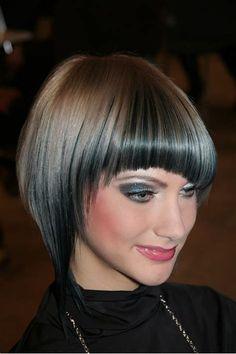 Images Bob Hairstyles With Bangs, Short Bob Haircuts, Short Hairstyles For Women, Trendy Hairstyles, Classic Hairstyles, Black Hairstyles, Gorgeous Hairstyles, Modern Haircuts, Wedge Hairstyles