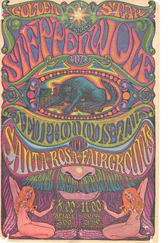 Vintage, retro, hippie, classic rock concert poster - Steppenwolf (named after the novel by Hermann Hesse) Vintage Concert Posters, Posters Vintage, Poster Retro, Poster S, Psychedelic Rock, Psychedelic Posters, Hippie Posters, Vintage Rock, Vintage Music