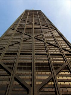 John Hancock Tower (1969 by SOM) If you're looking for an example of Chicago's role in innovative skyscraper design, look no further than the John Hancock Center.