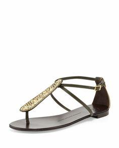 9020d7c13af1bf Crystal Studded Thong Sandal