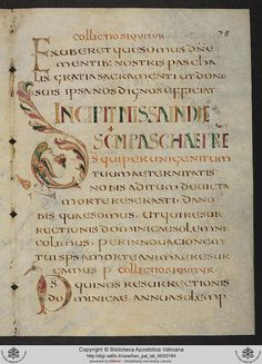 Onciale. Pal. lat. 493: Pal. lat. 493 Missalia Gallicana Vetera; Canones