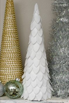 christmas tree aesthetic DIY Cone Christmas Trees - A Wonderful Thought How To Make Christmas Tree, Small Christmas Trees, Christmas Tree Crafts, Christmas Mantels, Noel Christmas, Green Christmas, Simple Christmas, Holiday Crafts, Christmas Wreaths