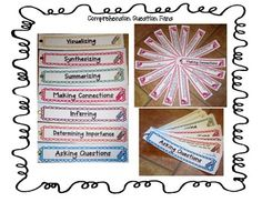 Comprehension Question Fans - visualizing, synthesizing, summarizing, making connections, inferring, determining importance and asking questions - Runde's Room, $4 on Teachers pay Teachers Comprehension Strategies, Reading Strategies, Reading Comprehension, Reading Groups, Teacher Page, Teacher Tools, Teacher Stuff, Teacher Resources, Student Teaching
