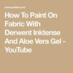 How To Paint On Fabric With Derwent Inktense And Aloe Vera Gel - YouTube Thread Painting, Fabric Painting, Fabric Art, Fabric Crafts, Sewing Crafts, Free Motion Embroidery, Free Machine Embroidery, Derwent Inktense, Derwent Pencils