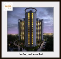 "Wish Empire offers 1BHK, 2BHK, 3 BHK Flats at Uma Aangan. The Ongoing Project at Ajmer Road ""Uma Aangan' is a way to live a luxury life at affordable cost!"