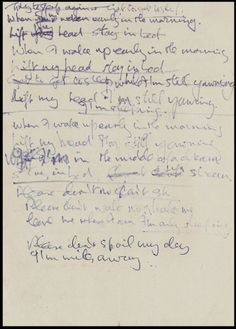 Bonhams' Entertainment Memorabilia auction on December 15 will be a must for any fans of the music legend John Lennon. Handwritten lyrics for the Beatles' hit John Lennon Lyrics, Beatles Lyrics, Beatles Love, John Lennon Beatles, John Lenon, The Knick, Soundtrack To My Life, The Monkees, Word Up