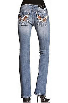 Miss Me Ladies Cowhide Rocker Cowgirl Boot Cut Jean  i like the cowhide the rest of the jean is kinda ugly