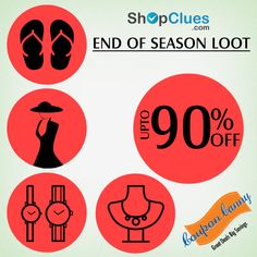 End of Season Loot: Upto 90% off on #Fashion , #Footwear, #Jewellery & #Watches at #ShopClues! Visit : http://www.couponcanny.in/shopclues-coupons/