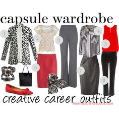 capsule wardrobe: creative career outfit planner by franticbutfabulous on Polyvore featuring iHeart, Monsoon, Rebecca Minkoff, Diane Von Furstenberg, Phase Eight, Gucci, J.Crew, Farhi by Nicole Farhi, Madewell and BCBGeneration