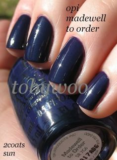 OPI polish in Madewell to Order