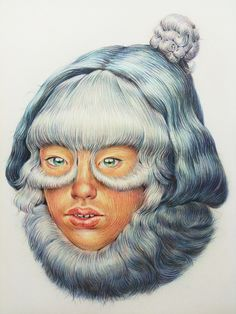 Fringe Redux (2010) pencil crayon on paper 22″ x 30″ sold