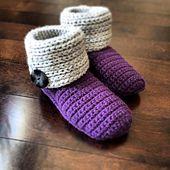 """Ravelry: """"Knot Knit"""" Slipper Boots pattern by Jennifer Pionk"""