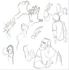 Hand studies by Chris Chua