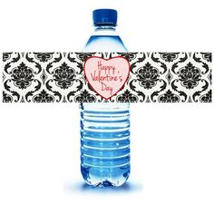 INSTANT DOWNLOAD Happy Valentine's Day Water Bottle Labels - Heart - Digital File PDF - diy on Etsy, $3.00