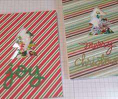 Holiday Shaker Cards by raejs (on Instagram) using the Merry & Bright dies. #ellenhutsonllc #EssentialsbyEllen #Merry&Bright