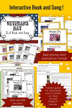 50% off! This cute WORD OF THE DAY VETERANS DAY BOOK is perfect for teaching VOCABULARY. It is one of 5 books associated with our WORD OF THE DAY November calendar. Your kids can learn words like VETERANS DAY, WAR, PROTECT and SOLDIER in a fun PIGGY BACK SONG format! We have also made these books interactive so they are great for teaching phonetic principles. We have included a teacher guide with ideas. My kiddos have learned great vocabulary as well as phonetic principles with these new…