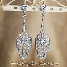 Kate Middleton Inspired Art Deco Earrings by TheLookingGlassShop, $50.00