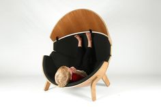 Hideaway Chair by think & shift Childrens Bedroom Decor, Design Furniture, Furniture Decor, Chair Design, Sofa Chair, Contemporary Furniture, Chaise, Lounge, Design Light